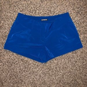Express Shorts - Express silky blue shorts (also selling in olive)